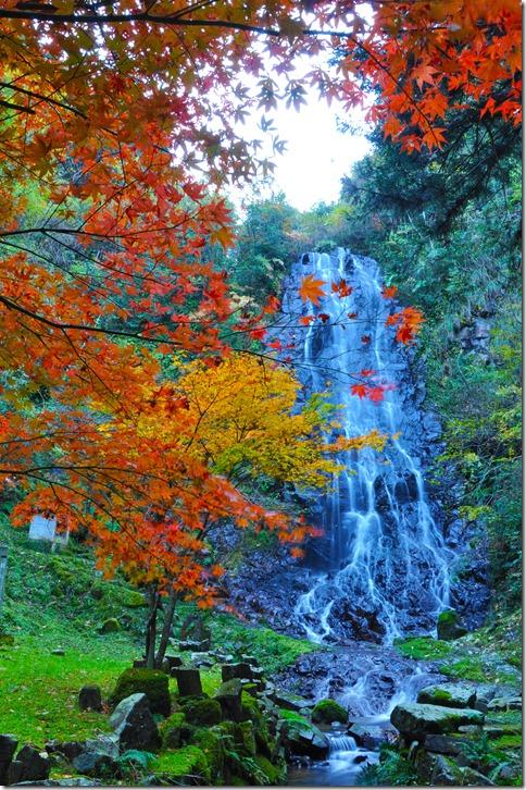 霜降りの滝