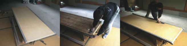 畳表と畳縁を取り外します
